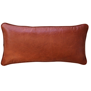 Tan Leather and Linen Cushions. Square Fox. Interior Cushions and Ottomans. Square and Rectangular.