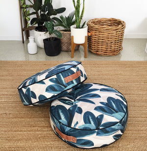 Rubber Tree Round Floor Cushion