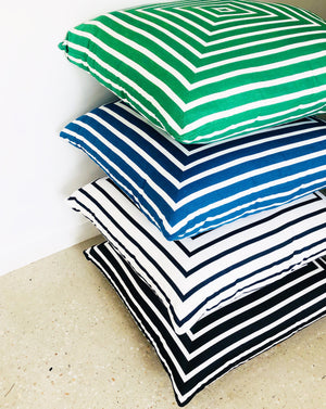 Striped Square OUTDOOR Floor Cushions