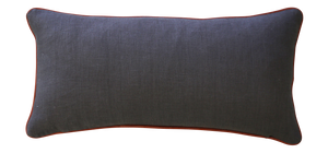 Leather + Linen Lumbar cushion