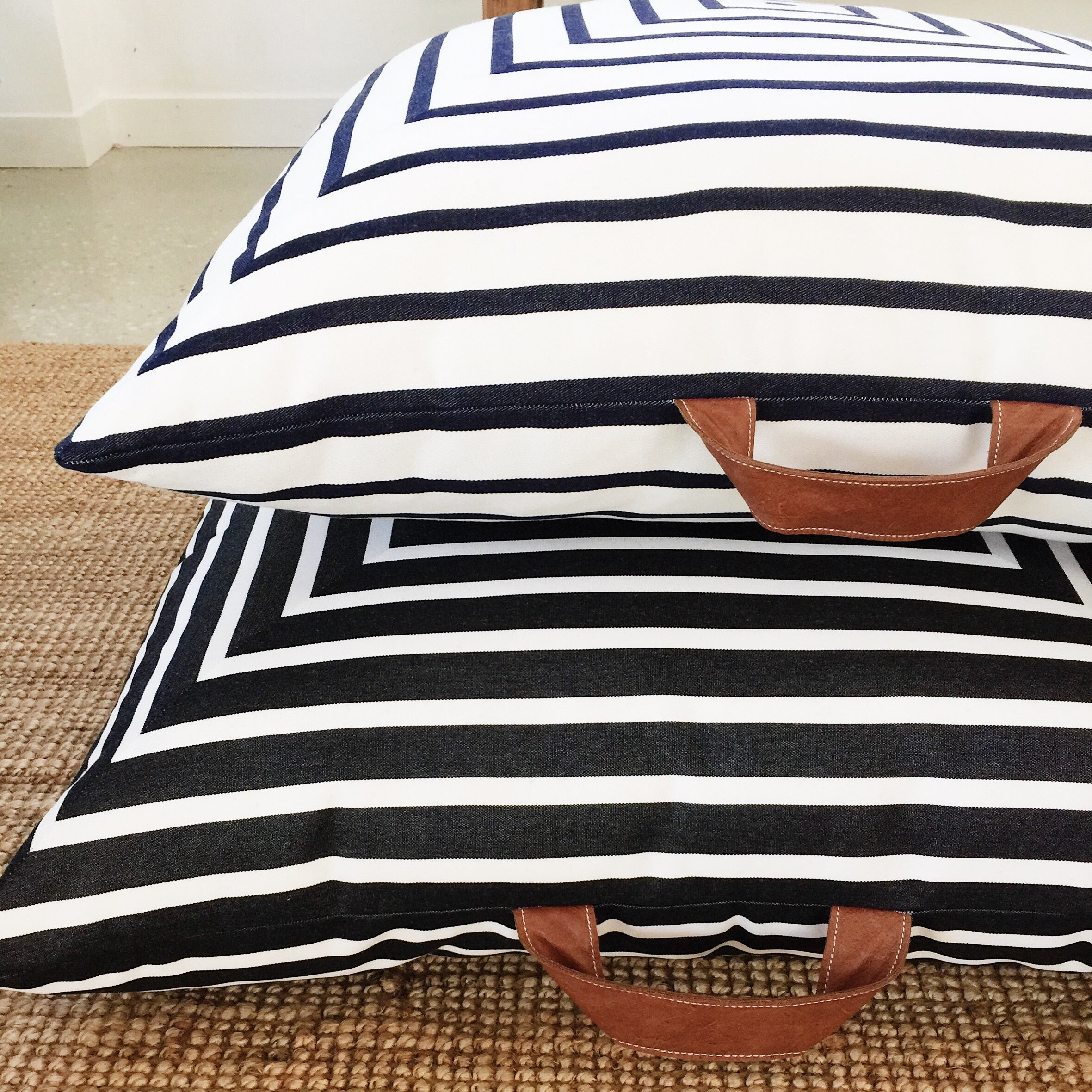 Striped Square OUTDOOR Floor Cushions - SquareFox