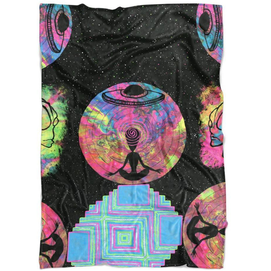 Set 4 Lyfe / JG Creationz - ALIEN MEDITATE BLANKET - Clothing Brand - Blanket - SET4LYFE Apparel