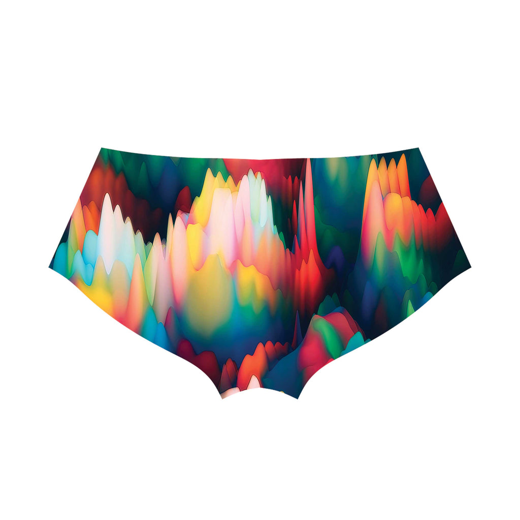 ABSTRACT WAVES BOOTY SHORTS