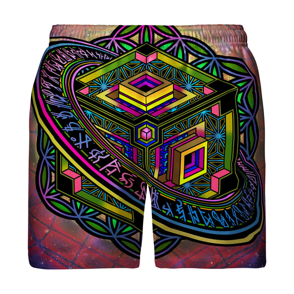 ALTERED PERSPECTIVE SWIM TRUNKS