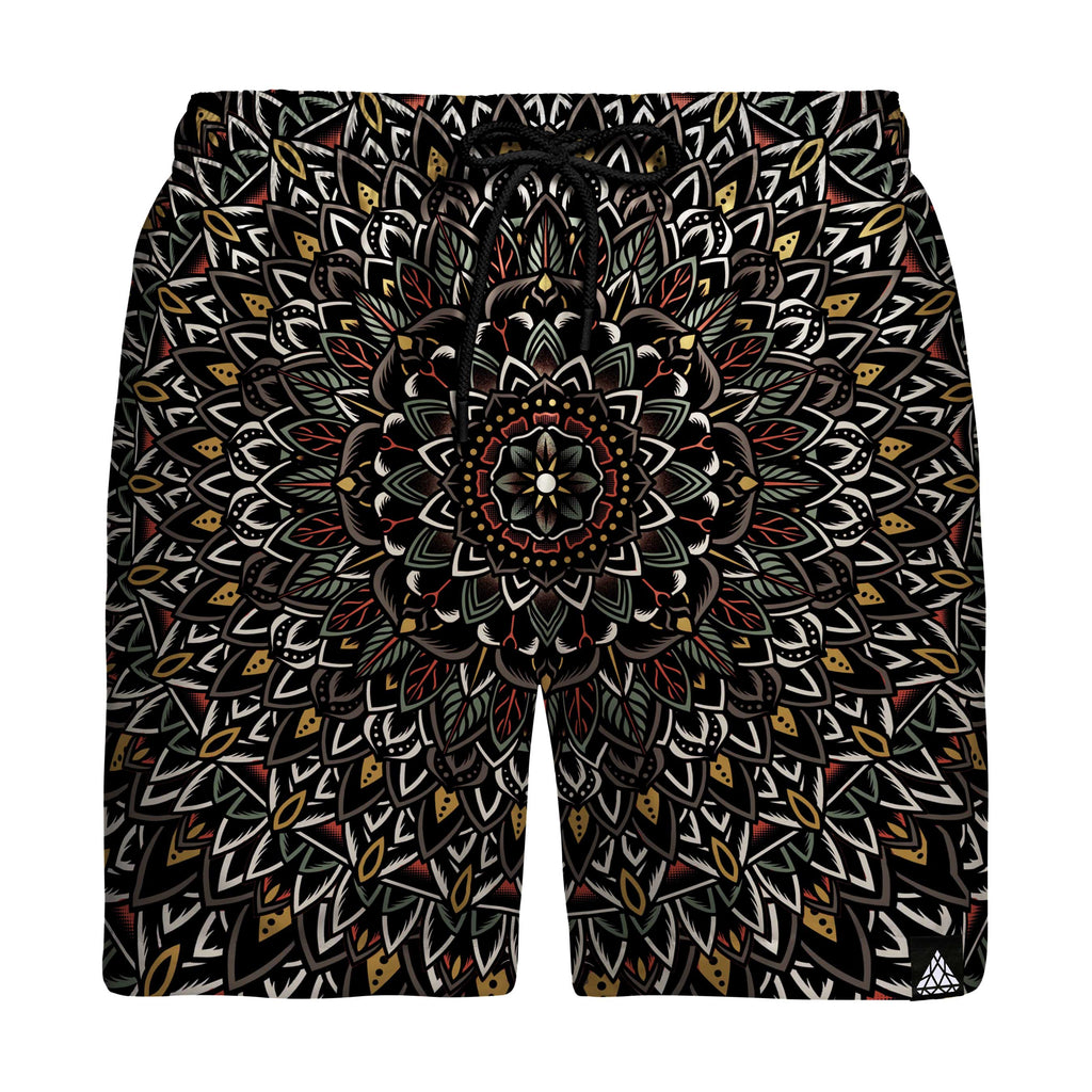FLOWER MANDALA SWIM TRUNKS