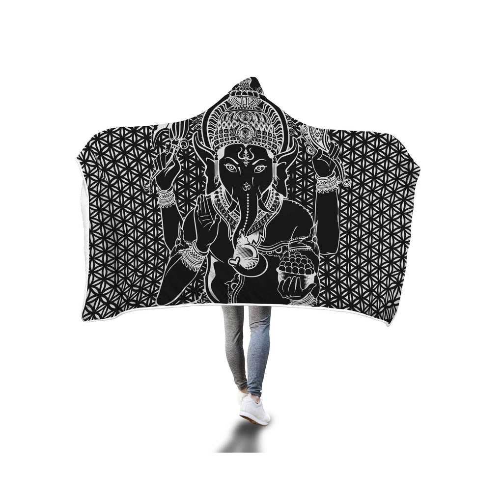 SACRED GANESHA HOODED BLANKET
