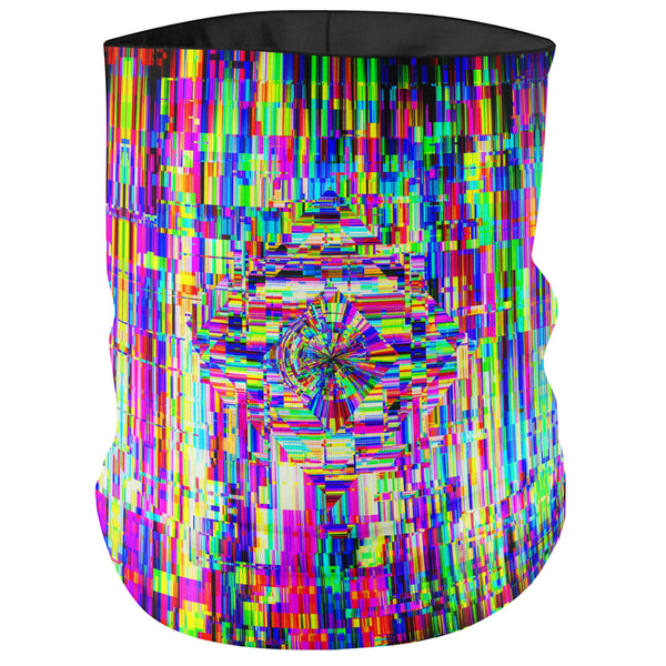 ABSTRACT GLITCH BANDANA MASK