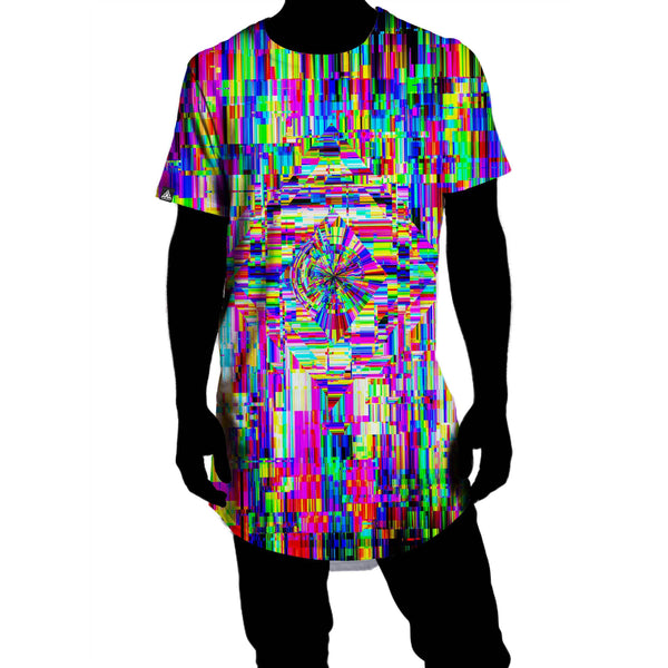 ABSTRACT GLITCH DROP TEE