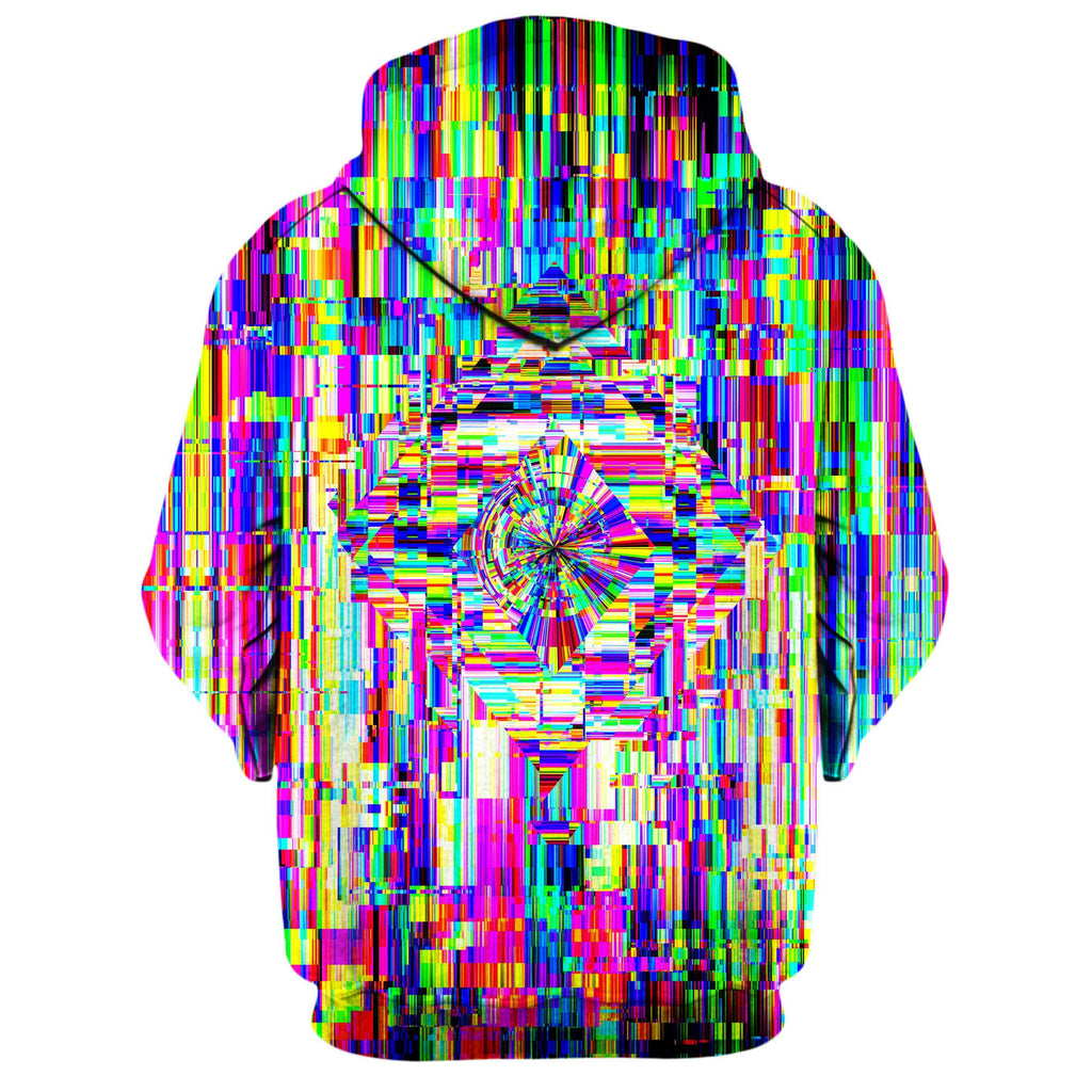 ABSTRACT GLITCH ZIP UP HOODIE