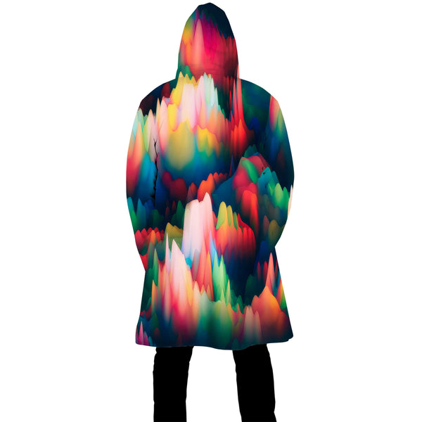ABSTRACT WAVES ZIP UP CLOAK