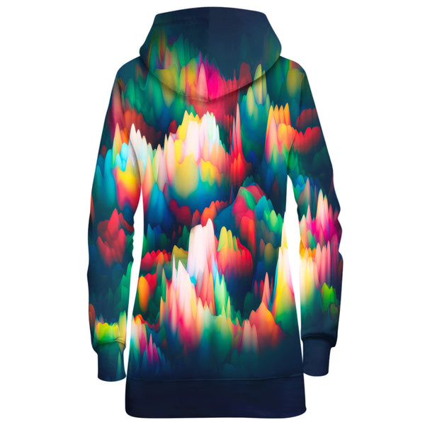ABSTRACT WAVES HOODIE DRESS