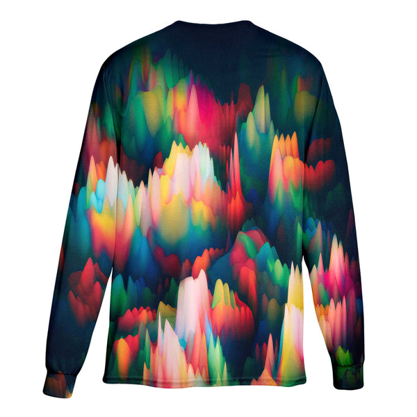 ABSTRACT WAVES LONG SLEEVE T