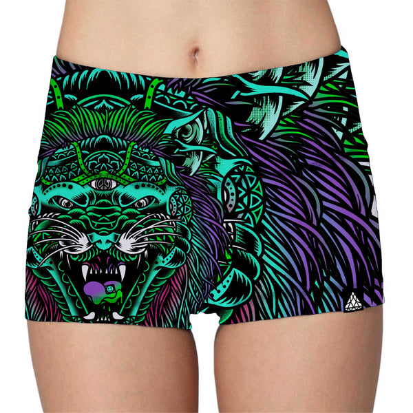 ACID TIGER LADIES HIGH-WAIST SHORTS