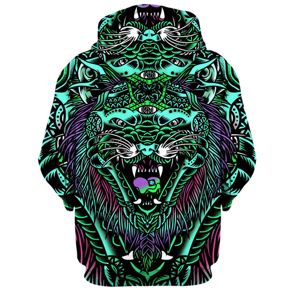 ACID TIGER ZIP UP HOODIE