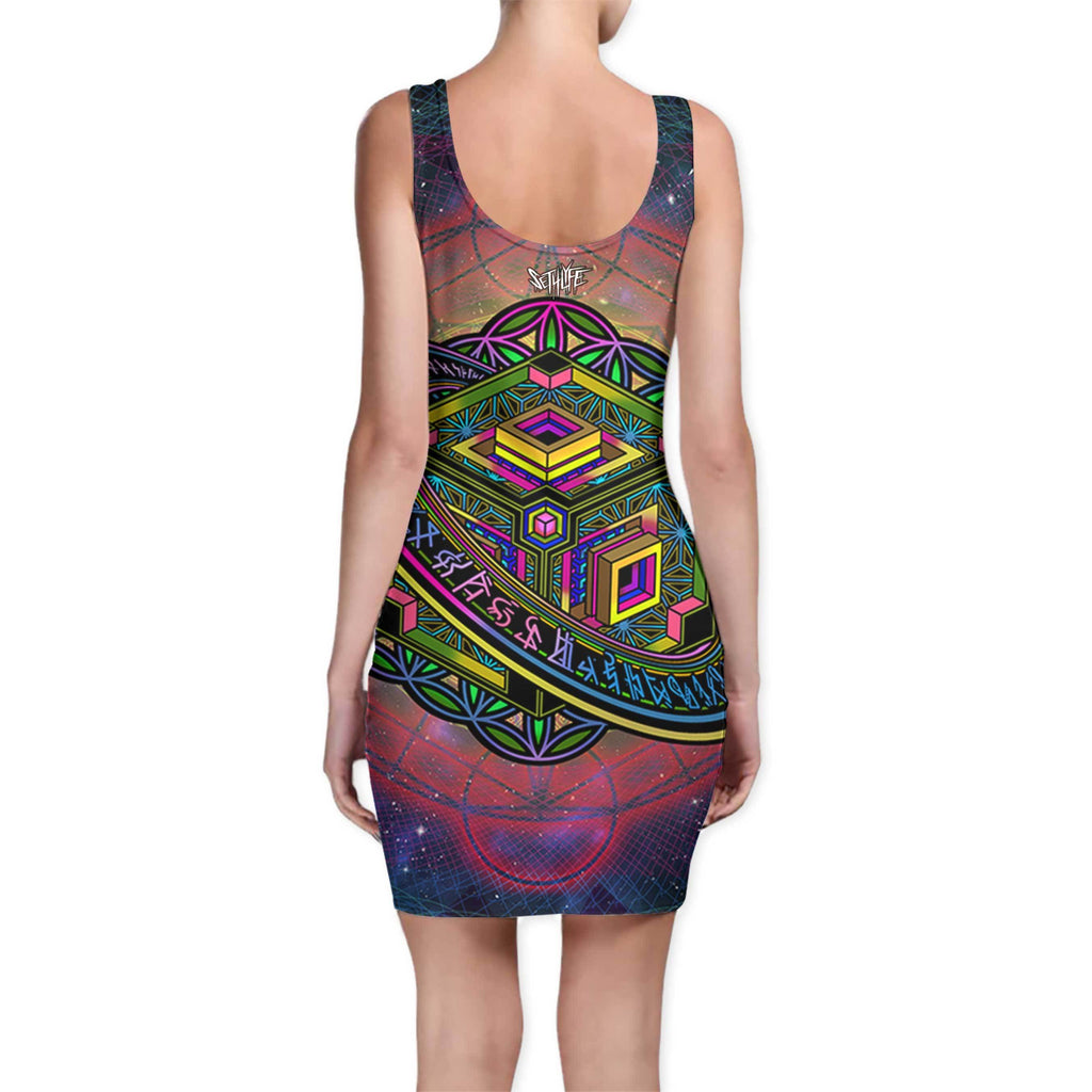 ALTERED PERSPECTIVE BODYCON DRESS