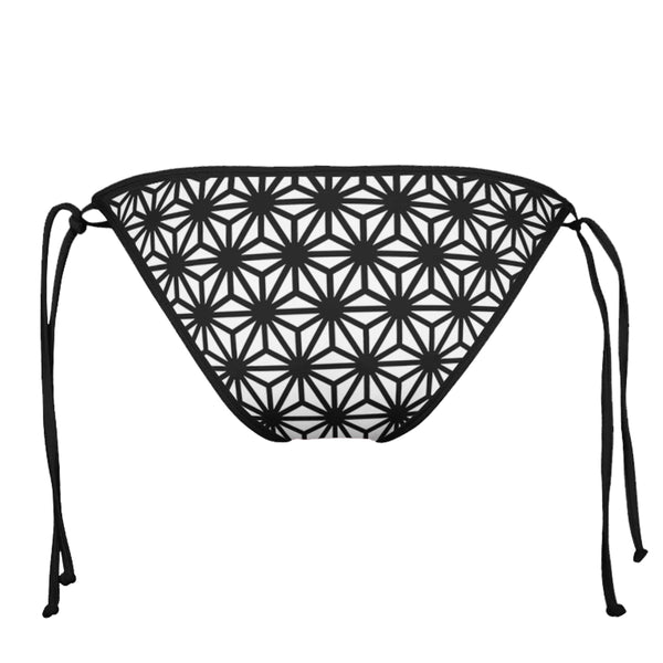 ASANOHA SPHERE BLACK STRING BIKINI BOTTOMS