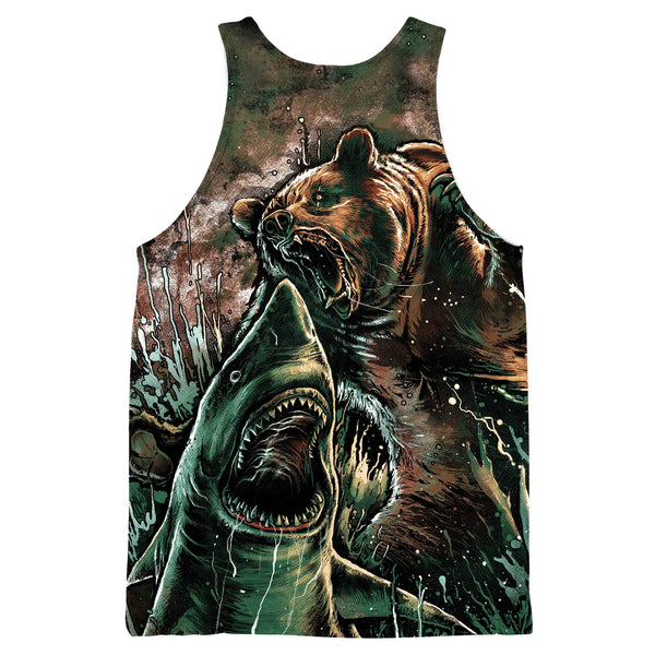 BEAR VS SHARK TANKTOP