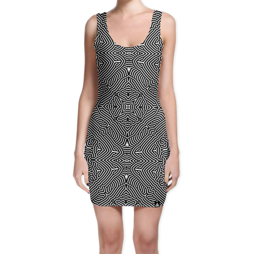 BLOTTER BODYCON DRESS