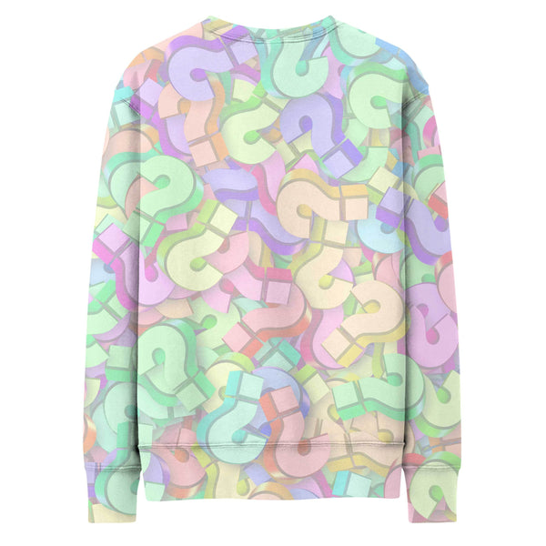 CUSTOM QUESTION MARK COLOR SWEATSHIRT