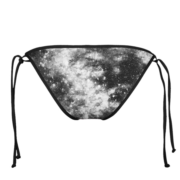 DARK GALAXY BLACK STRING BIKINI BOTTOMS