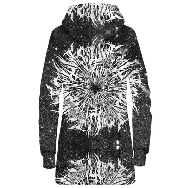 DARK GRIME MANDALA HOODIE DRESS