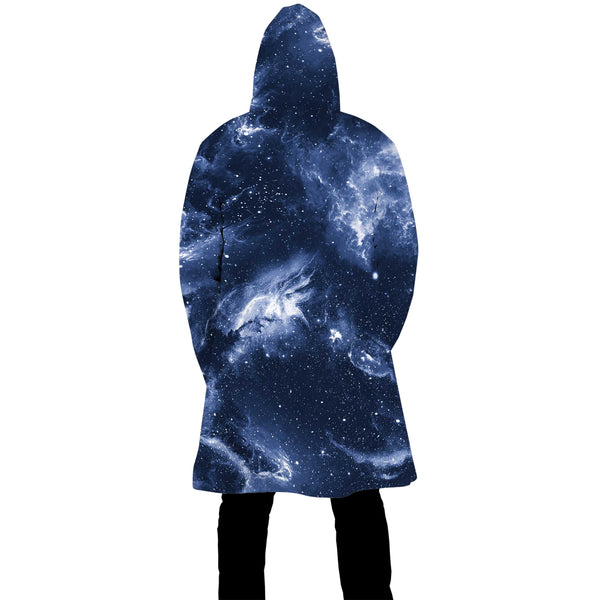 DEEP BLUE SPACE ZIP UP CLOAK