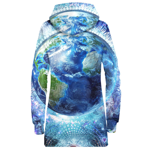 EARTH HOODIE DRESS