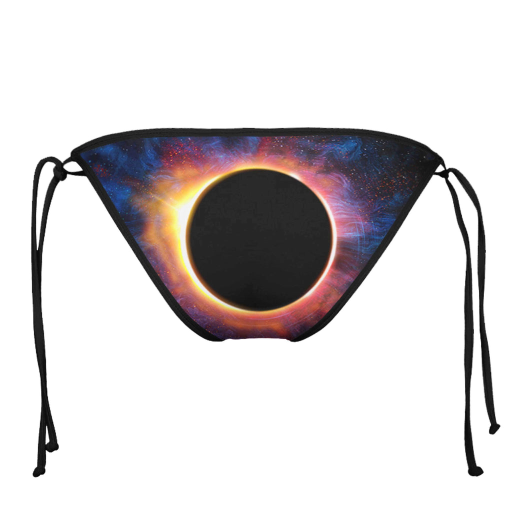 EPIC ECLIPSE BLACK STRING BIKINI BOTTOMS