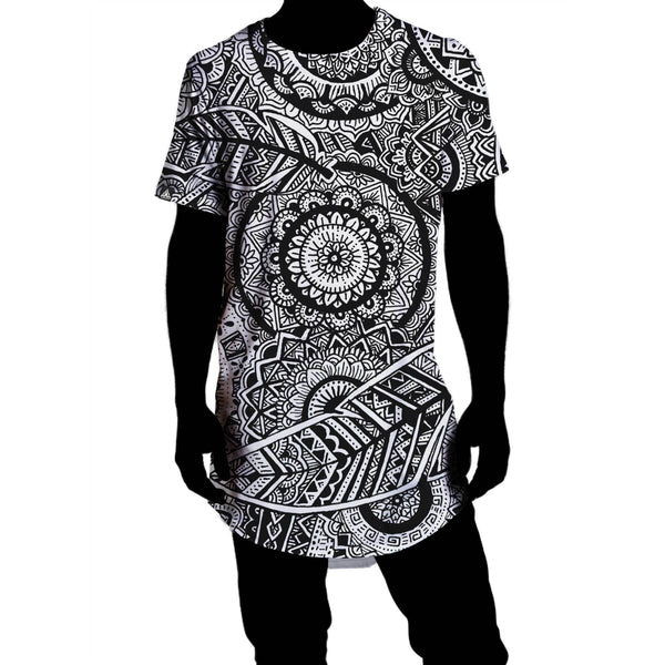 FEATHER MANDALA DROP TEE