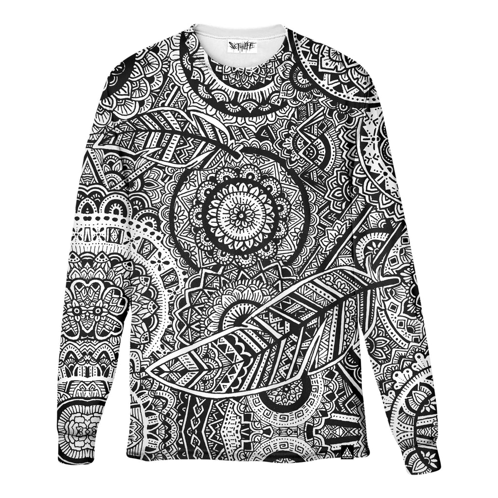 FEATHER MANDALA LONG SLEEVE T