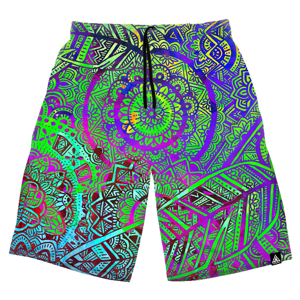 FEATHER MANDALA VIBE SHORTS
