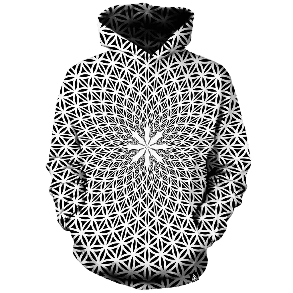 FLOWER OF LIFE WHITE HOODIE