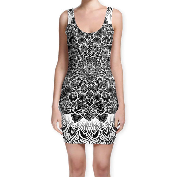 MANDALA GLOW BODYCON DRESS (Clearance)