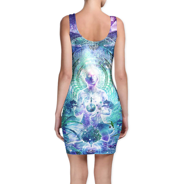 OBSERVERS OF THE SKY BODYCON DRESS