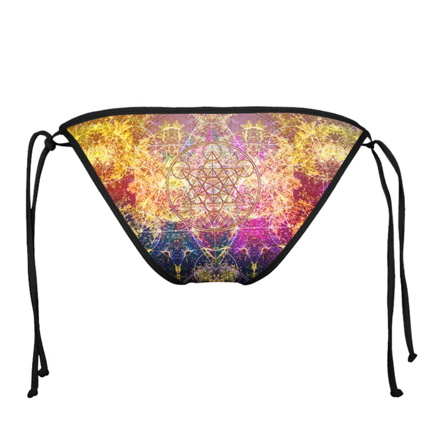 PINEAL METATRON BLACK STRING BIKINI BOTTOMS
