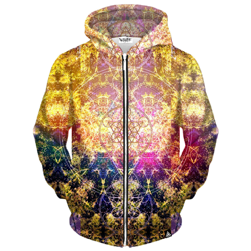 PINEAL METATRON ZIP UP HOODIE