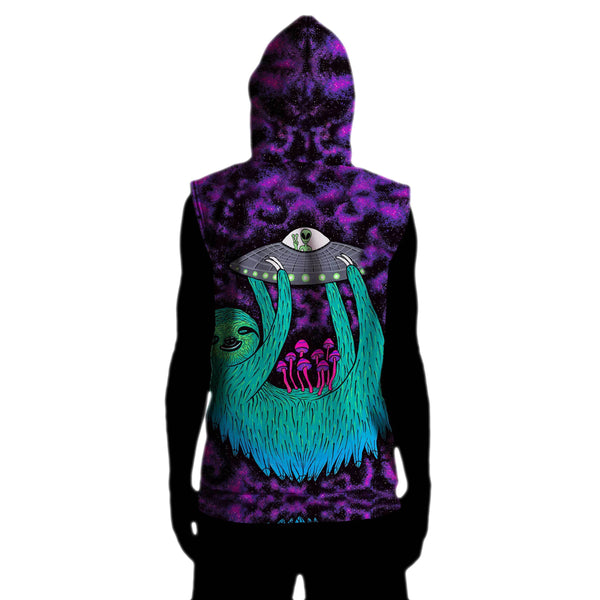 SLOTH ABDUCTION SLEEVELESS HOODIE
