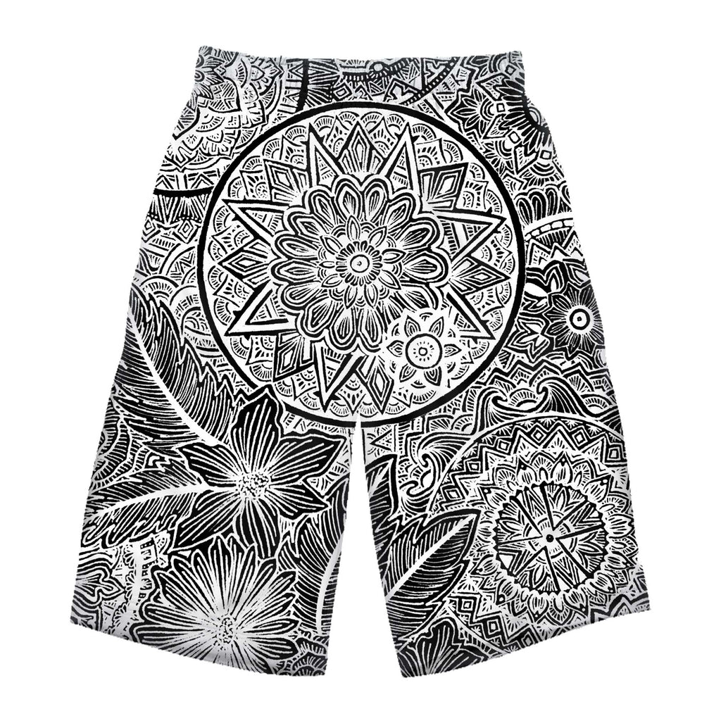 STAR MANDALA LONG SHORTS