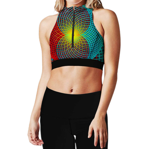 TRANCE ZIP UP SPORTS BRA