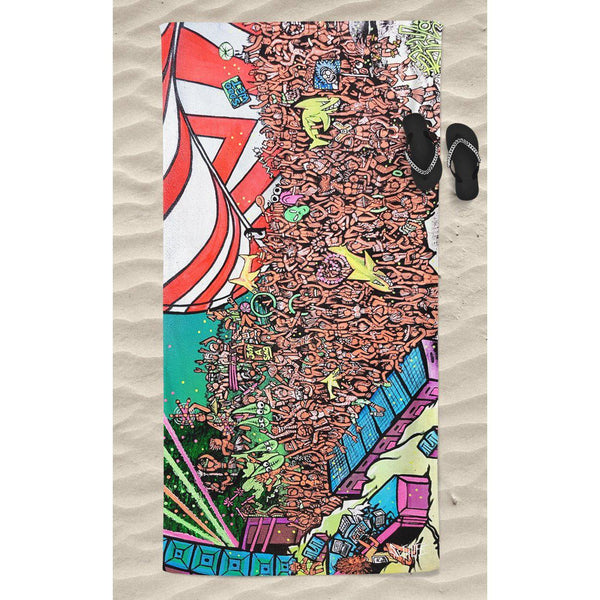 AMP BEACH THROW TOWEL