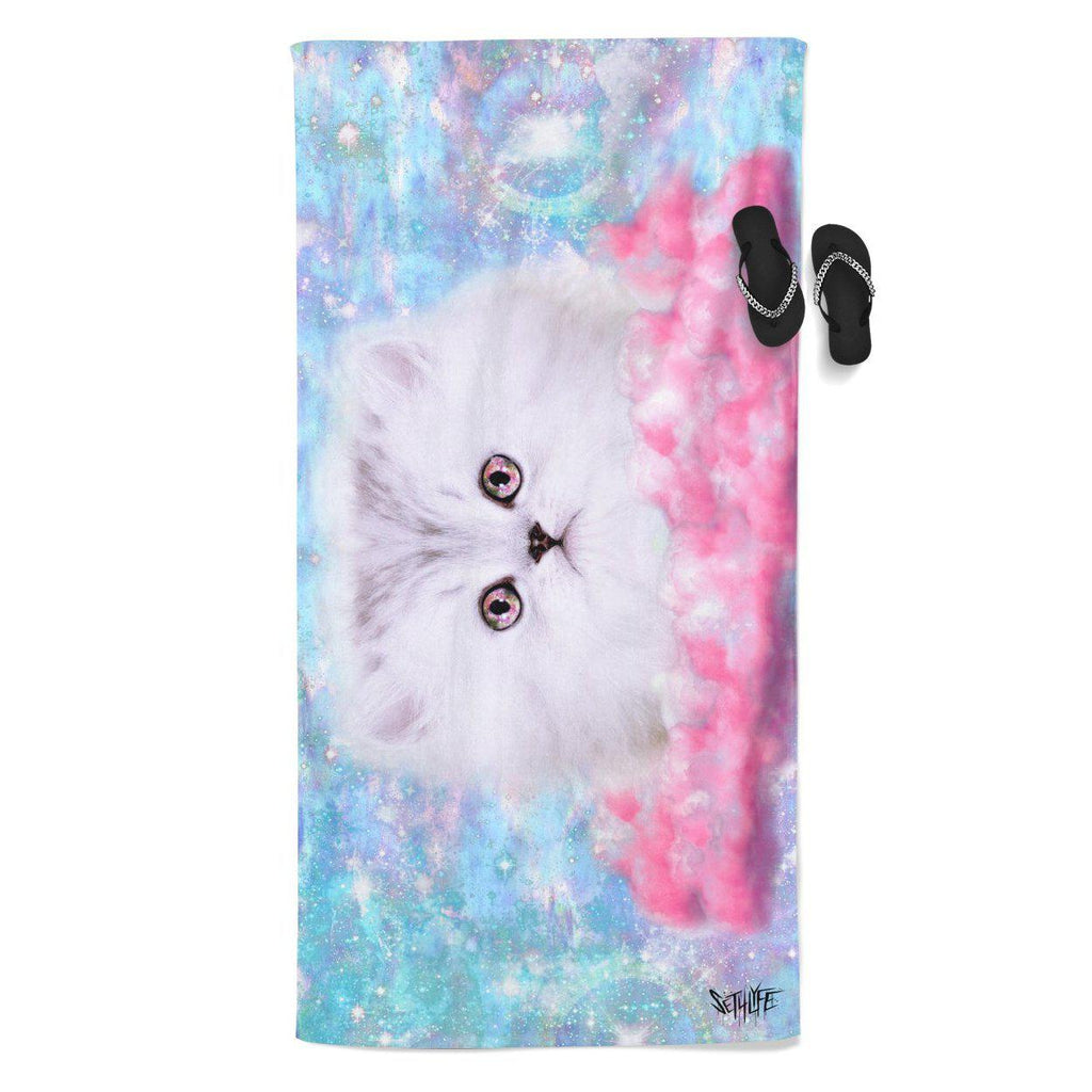 Set 4 Lyfe / Mattaio - FLUFFY SPACE MUNCHKIN BEACH THROW TOWEL - Clothing Brand - Beach Towel - SET4LYFE Apparel