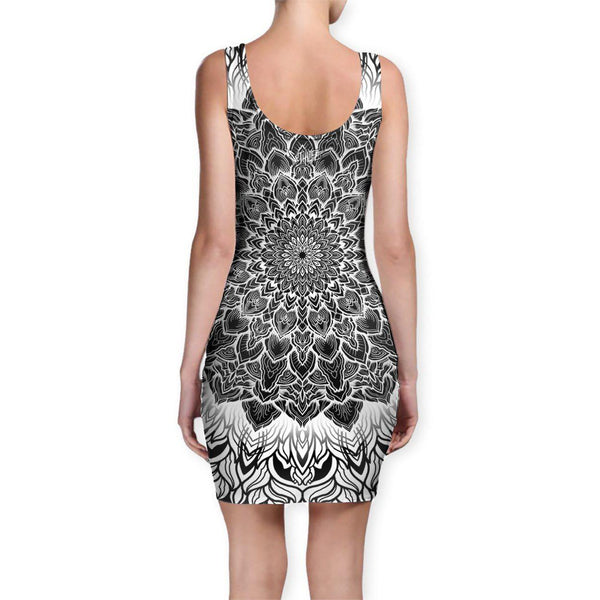 Set 4 Lyfe / Yantrart Design - MANDALA GLOW BODYCON DRESS - Clothing Brand - Bodycon Dress - SET4LYFE Apparel