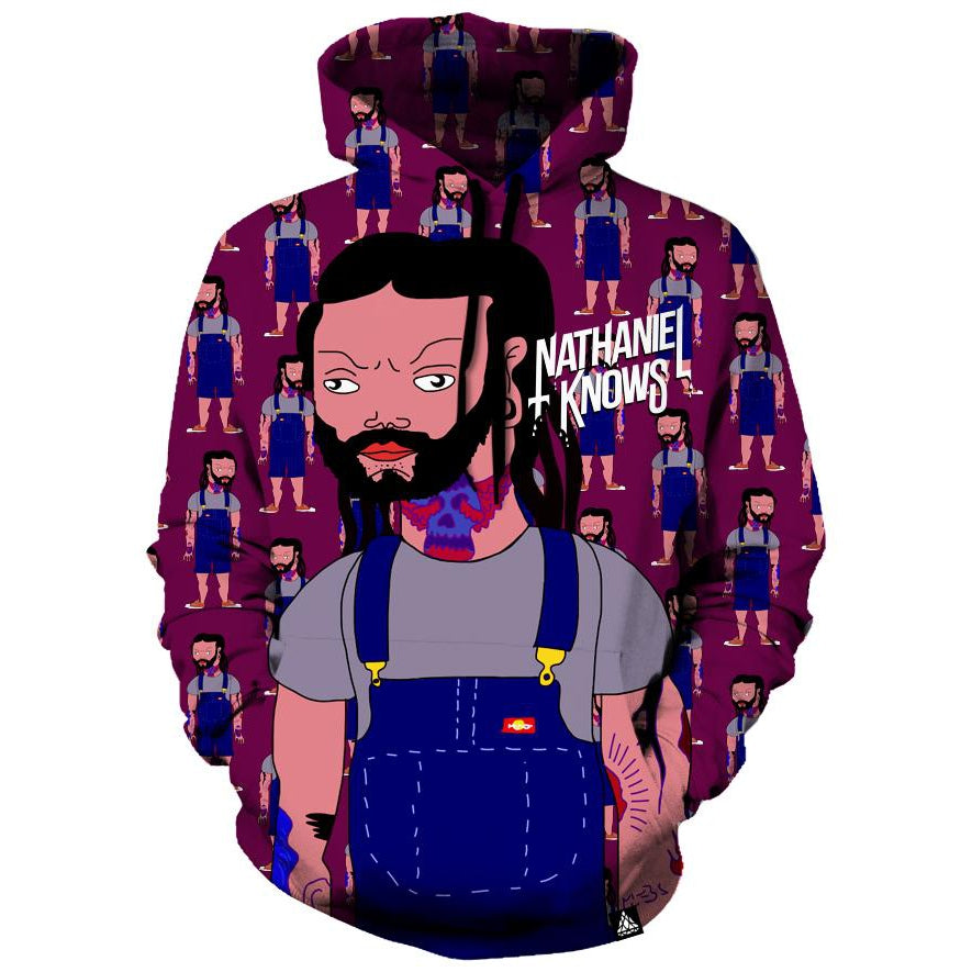 NATHANIEL KNOWS TOON HOODIE-Set 4 Lyfe Apparel