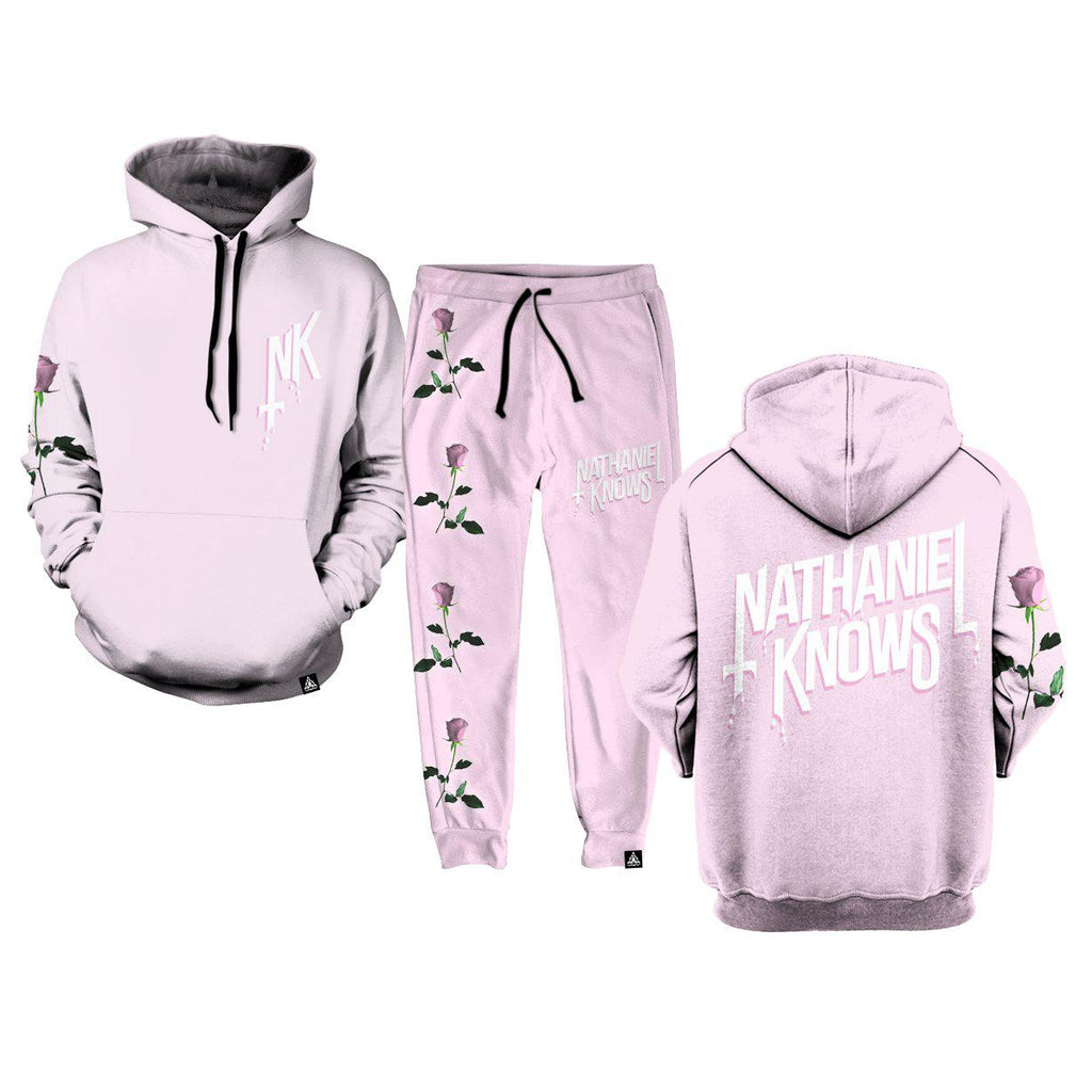 Set 4 Lyfe / Nathaniel Knows - NK ROSE PINK HOODIE - Clothing Brand - Pullover Hoodie - SET4LYFE Apparel