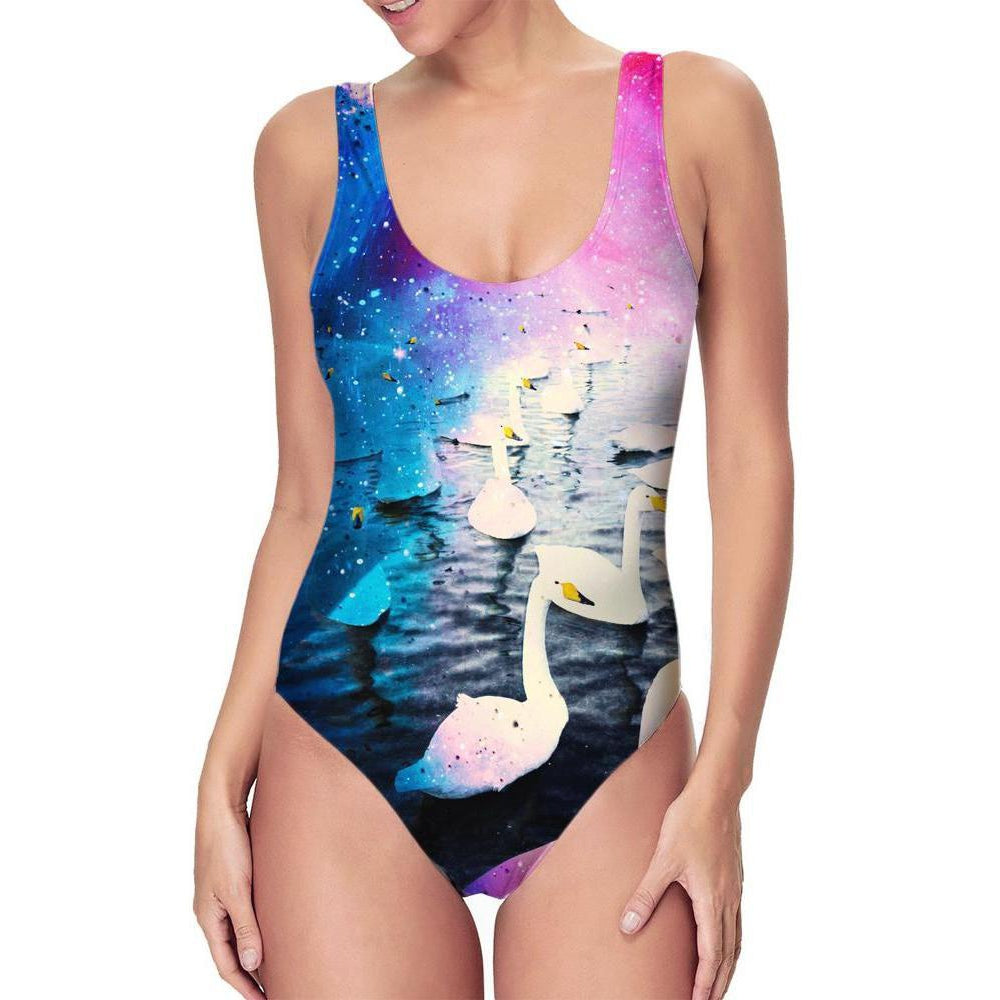 Set 4 Lyfe - SWANS ONE PIECE SWIMSUIT - Clothing Brand - Swimsuit - SET4LYFE Apparel