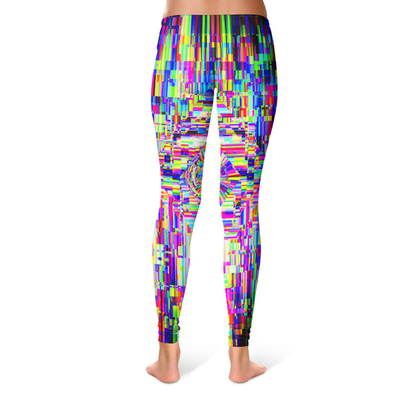 ABSTRACT GLITCH LEGGINGS