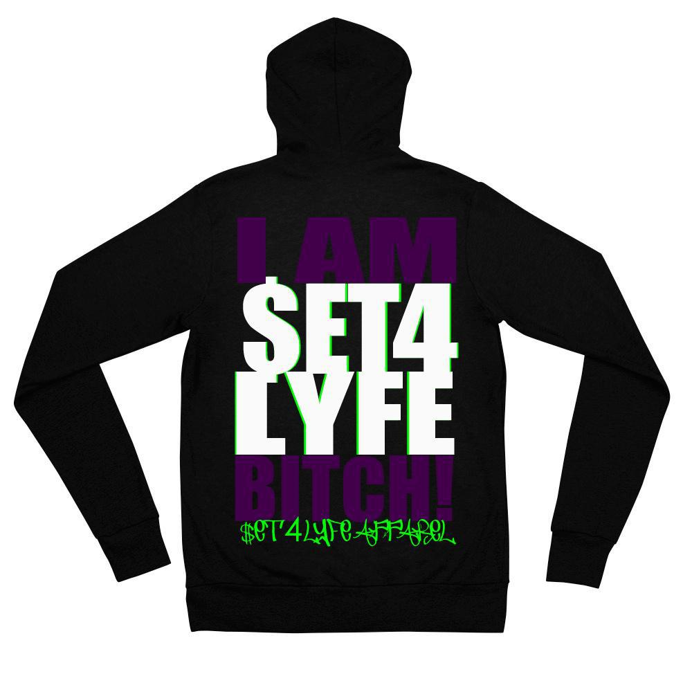 Set 4 Lyfe - BOSS ZIP UP HOODIE - Clothing Brand - Graphic Zip Up Hoodie - SET4LYFE Apparel