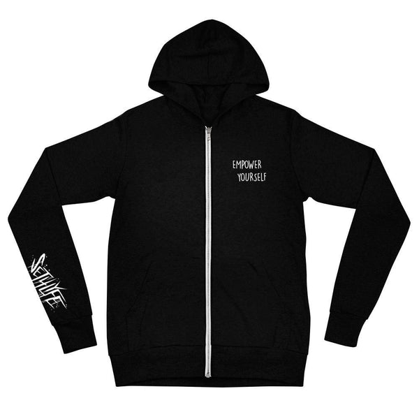 OPEN MIND ZIP UP HOODIE