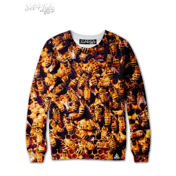 BEES SWEATSHIRT Set 4 Lyfe Animals, Nature, Photo Finish