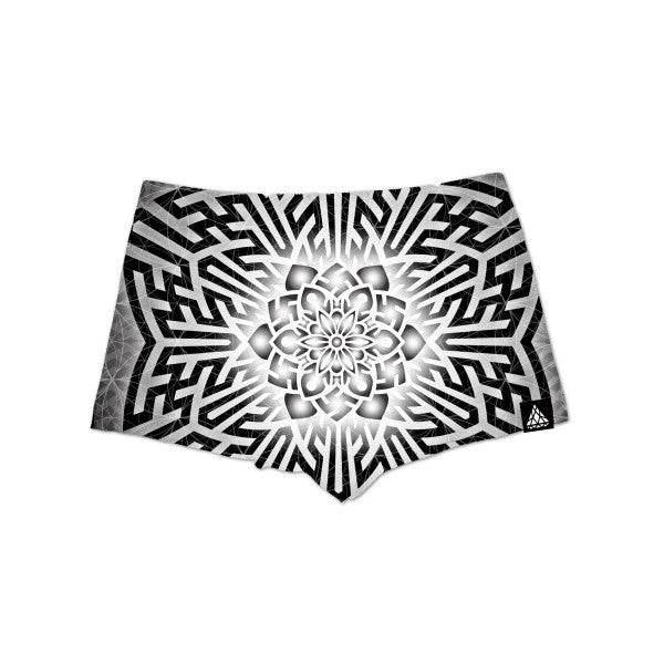 CHOSEN LADIES HIGH-WAIST SHORTS Set 4 Lyfe / Sam Rivers Dark, Psychedelic, Sacred Geometry